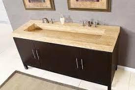Dark Vanity Bathroom Wall Including White Shower Curtain And Double Black Wood Dark