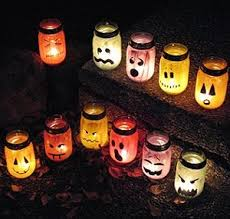 Easy Halloween Craft Projects - haunting halloween luminaries haunted halloween fun halloween