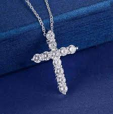 crystal cross pendant necklace images Crystal cross pendant necklace trendy shop deals jpg
