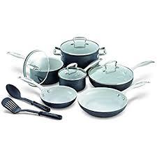 black friday ceramic cookware amazon com greenlife soft grip 14pc ceramic non stick cookware
