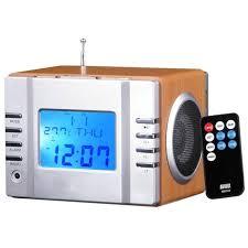 avec radio august mb300 radio réveil cube lecteur mp3 avec radio fm