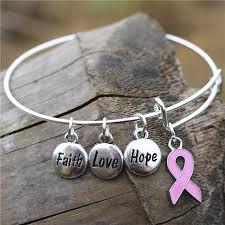 love charm bracelet images Fashionable breast cancer awareness bangle faith hope love charm jpg