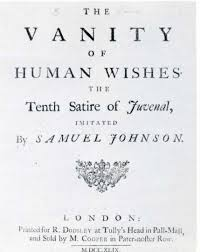 Definition Of Vanity The Vanity Of Human Wishes Wikipedia