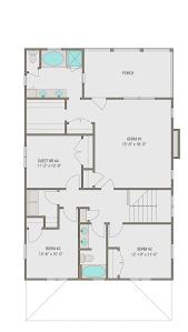 prairie style house plan 4 beds 2 50 baths 2460 sq ft plan 461 49