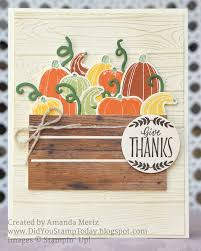 did you stamp today pick a crate of pumpkin stampin u0027 up pick
