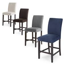 counter dining chairs belham living carter mid century modern upholstered counter height