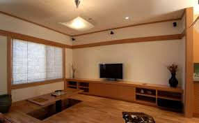 Japanese Style Living Room Furniture Wooden Shelves In The Nearby Living Room Japanese Living Room Furniture Awesome Photos Design
