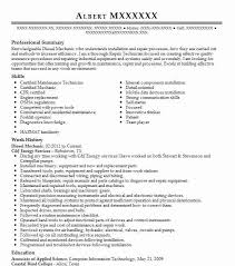 Heavy Equipment Mechanic Resume Examples by Mechanic Resume Diesel Mechanic Resume Best Diesel Mechanic