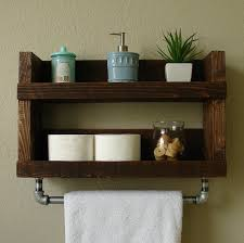 Bathroom Wall Cabinet With Towel Bar 12 Wood Bathroom Wall Shelves Grey Washed Coat Rack With