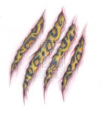 leopard print claws tattoo design real photo pictures images