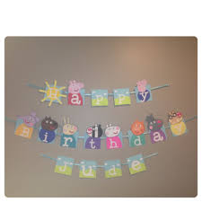 peppa pig boy peppa pig party banner bunting happy birthday
