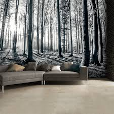 1wall black and white forest trees mural wallpaper 315cm x 232cm 1wall black and white forest trees mural wallpaper 315cm x 232cm
