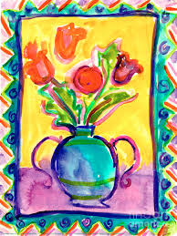 Flower Vase Painting Ideas Flower Vase Painting By Jessie Abrams Age Thirteen