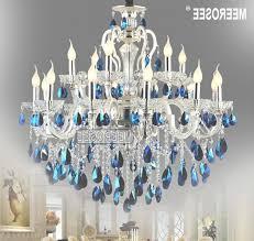 blue crystal chandelier light 45 inspirations of blue crystal chandelier