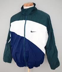 nike windbreaker vintage nike big swoosh navy blue green white windbreaker jacket