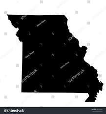 Map Of The State Of Missouri by Map Us State Missouri Stock Vector 561753298 Shutterstock