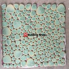 green porcelain wall tiles pebble mosaic ppmt044 pebble flooring