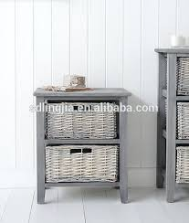 Cabinet Baskets Storage Mastercraft Basket Cabinet With 4 Wicker Baskets Beach Style