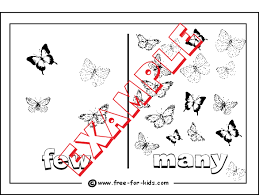 opposites colouring pages for pre children