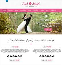 wedding web 37 free wedding website themes templates free premium templates