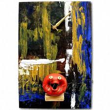 buy designer wall clock mural with abstract painting online in