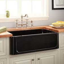 Granite Single Bowl Kitchen Sink 33 Polished Granite Farmhouse Sink Recessed Apron Polished