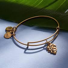 leaf charm bracelet images Palm leaf charm bangle jpg