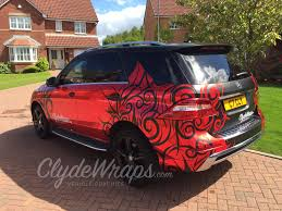car mercedes red red chrome tribal tattoo mercedes ml