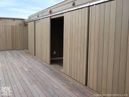 Exterior Sliding Door Hardware Barn Door Installations Contemporary Patio Seattle By Real