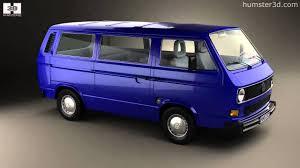 volkswagen microbus 1970 volkswagen transporter t3 passenger van 1990 by 3d model store