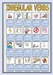english worksheets irregular verbs worksheets page 22