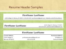 Resume Header Samples Read A Job Description To Write Effective Resumes And Cover Letters