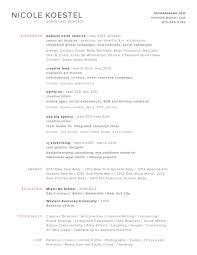Desktop Resume Resume U2014 Nicole Koestel Senior Art Director