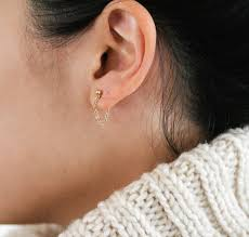 earring studs with loop neato bonito diy chain loop earrings