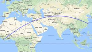world map oceans seas bays lakes the walk on earth takes you from china to liberia or vice