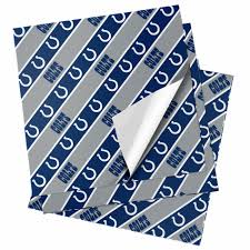 cowboy wrapping paper nfl folded gift wrapping paper indianapolis colts
