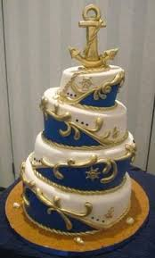 Nautical Theme Wedding Cakes - nautical wedding cake inspired by spools of and brass