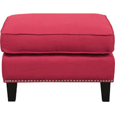 ottomans nailhead upholstered bench small tufted storage ottoman