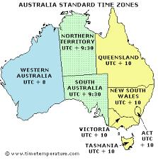 utc zone map australia zones australia current