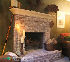 red brick fireplace treated with pure u0026 original fresco lime paint