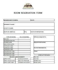 Restaurant Reservation Sheet Template Sle Reservation Forms Baguio Country Reservation Form
