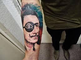 salvador dali tattoo done by liber riot tattoo ideas center