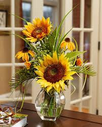 Centerpieces With Sunflowers by Order Silk Sunflower Vase Arrangements Sunflowers Pinterest