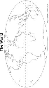 continents outline map printout cr social studies ideas