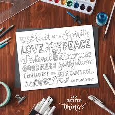 bible verse coloring page fruit of the spirit galatians 5 22