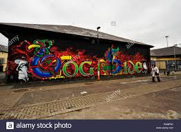 wall mural in the bogside derry londonderry depicting nelson