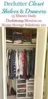 how to declutter closet shelves u0026 drawers