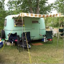 Vintage Travel Trailer Awnings Cote De Texas Glamping U2013trailer Style