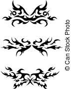 set of round tribal tattoo elements vector clipart search