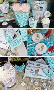 mermaid party ideas waves mermaid party ideas big dot of happiness